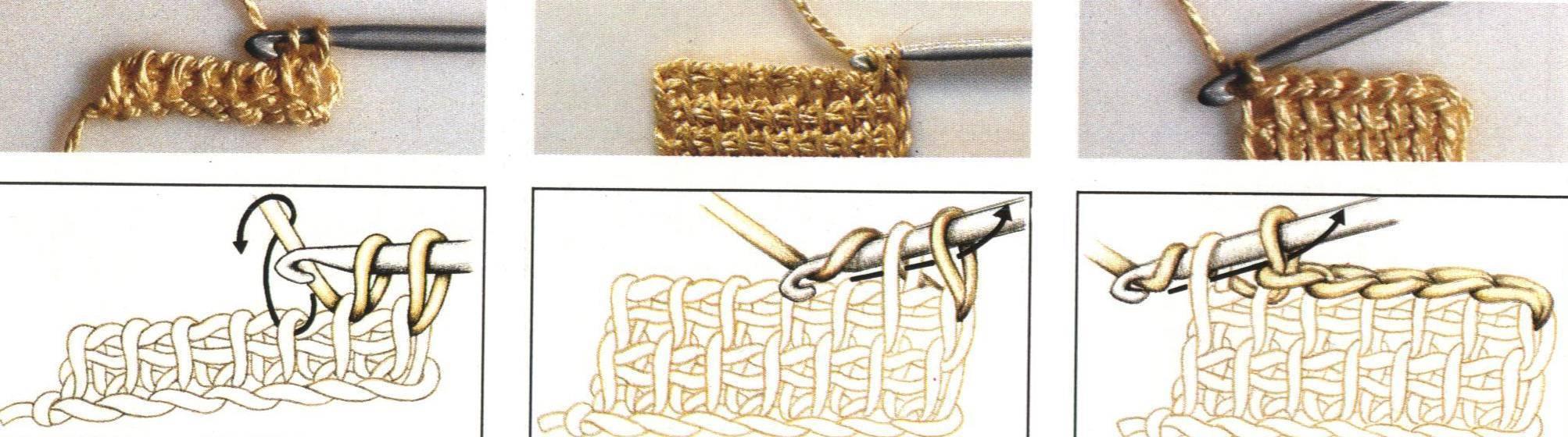 Punto tunecino de tejido a ganchillo tejer punto - Como empezar a hacer punto paso a paso ...