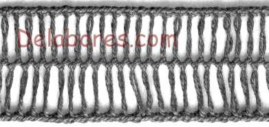 Cómo hacer bordes tejidos con horquilla