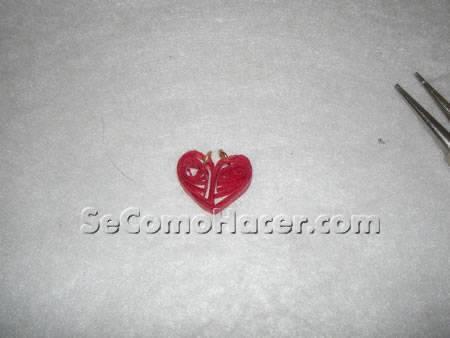 Cómo hacer pendientes de corazón