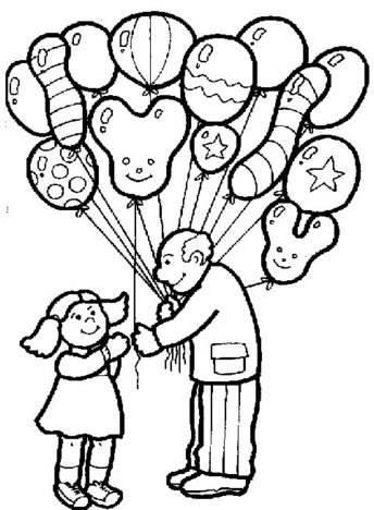 Dibujos para colorear del día del padre