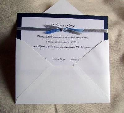 Invitaciones sencillas para boda invitaci n sencilla - Bodas sencillas pero bonitas ...