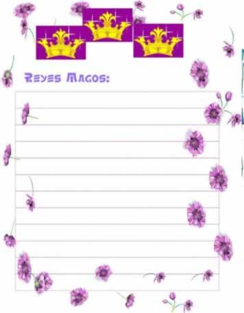 Modelo de carta a los reyes magos para imprimir