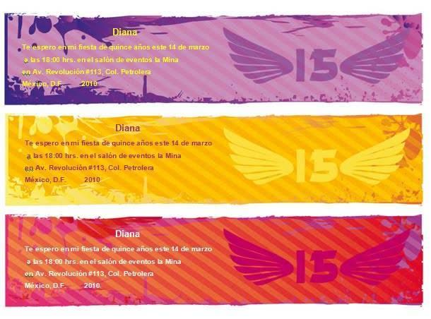 Plantillas de invitaciones para cumpleaños :: Invitación de 15 ...