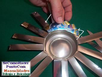 Juego de cocina con latas de aluminio | manualidades.