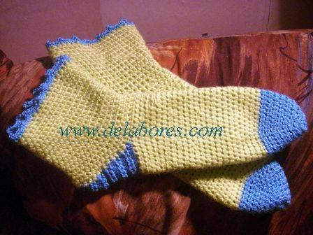 C mo hacer calcetines tejidos a crochet t cnica para - Como hacer talon de calcetines de lana ...