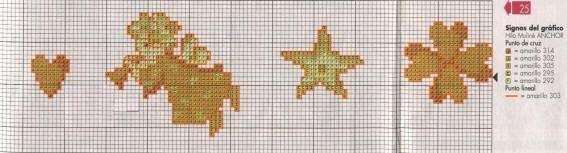 Diseños de cenefas en punto de cruz