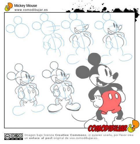 Cómo dibujar a Mickey