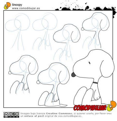 Cómo dibujar a Snoopy