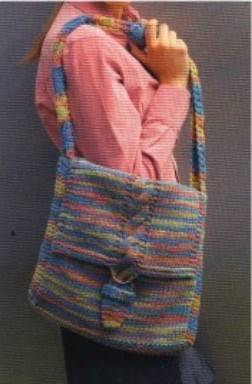 C mo tejer un bolso unisex bolso tejido a dos agujas - Como hacer bolsos tejidos ...
