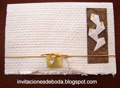 Invitación de boda con alcatraces