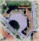 Callejero: Vista aérea de la Plaza del Ayuntamiento de Guadarrama