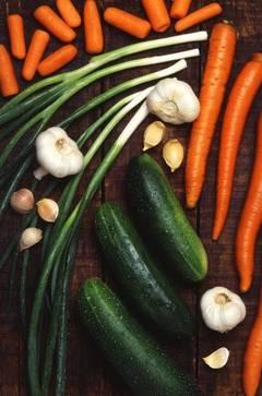 Brochetas de vegetales bajas calorías