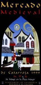 Afiche del Mercado Medieval de Catarroja , edición 1999