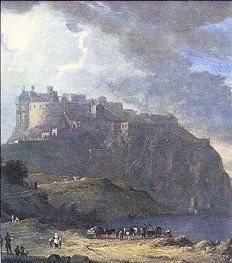 Castillo de Edimburgo,  pintura de Alexander Nasmyth