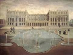 Palacio de Versalles, antes de la construcción de la Galería de los Espej