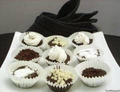 Cómo hacer bombones de chocolate bajas calorías