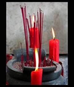 Sahumerios caseros y velas artesanales