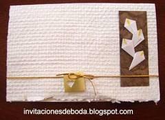 Invitación de boda con alcatraces