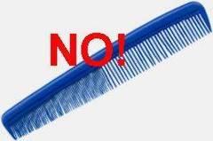 Evitar el uso de peines para el cabello seco