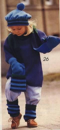 Conjunto infantil de lana para el frío