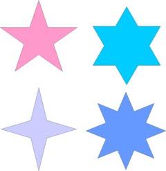Moldes de estrellas para imprimir y recortar