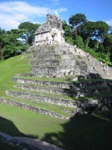 Zona arqueológica de Palenque en Chiapas, México