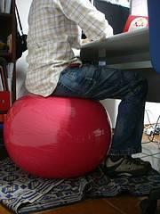 Sentadilla con fitball