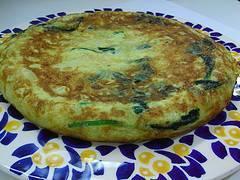 Tortilla árabe de verduras