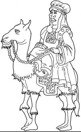 Dibujos de los reyes magos para colorear :: Imágenes de los reyes ...
