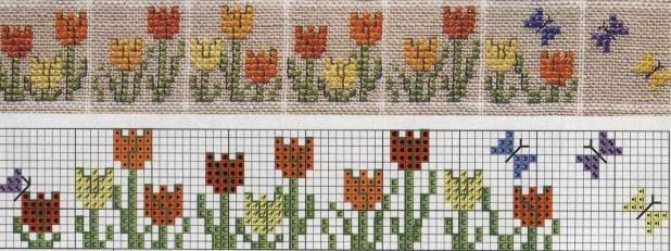 Disenos De Flores En Punto De Cruz Plantillas De Flores Para