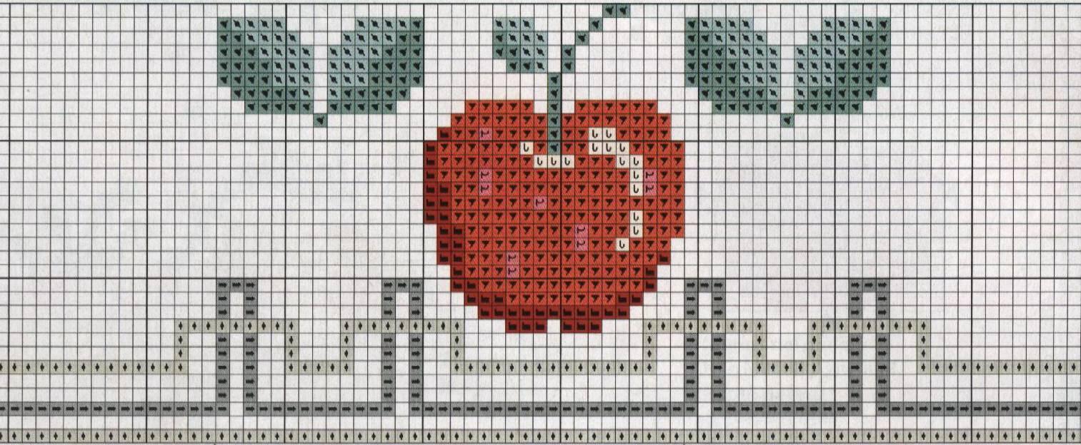 Worksheet. Dibujos de frutas bordadas a punto cruz  Diseos de figuras de