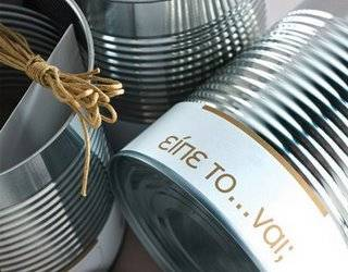 Invitaciones de boda con latas