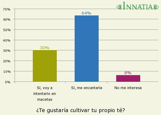 Gráfico de la encuesta: ¿Te gustaría cultivar tu propio té?