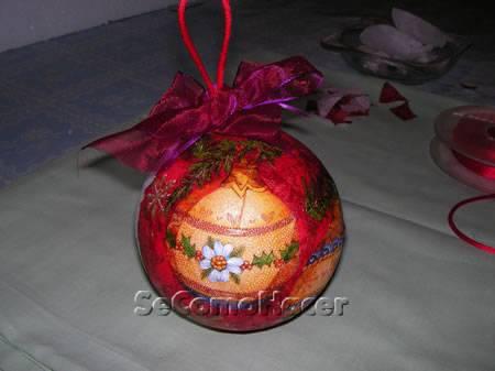 Bolas para el rbol de navidad c mo hacer bolas de - Como hacer bolas para el arbol de navidad ...