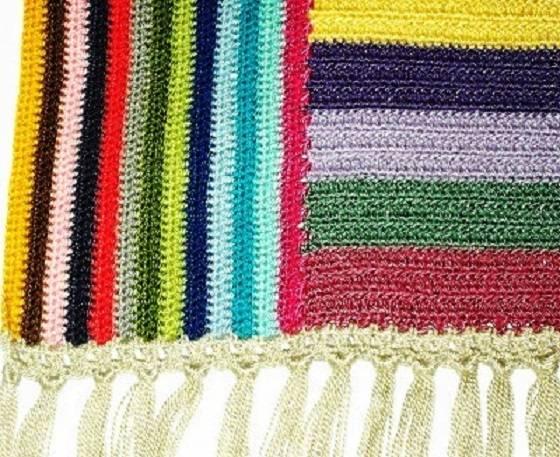 Mantas de crochet a cuadros y otras colchas tejidas con - Mantas de ganchillo paso a paso ...
