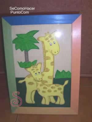 Cuadro en goma eva para decorar el dormitorio de los ni os - Como hacer cuadros de goma eva ...