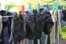 Lavar ropa negra