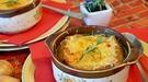 Sopa de queso y cebolla