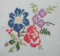 Patrones de flores para punto de cruz