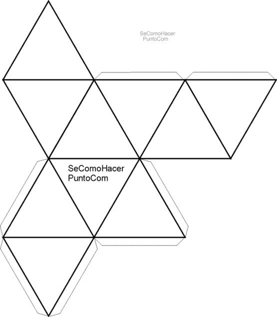 Figura para hacer un deltaedro