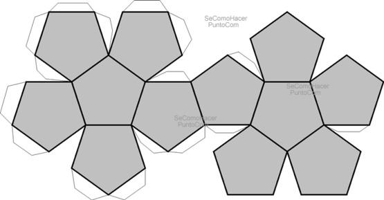 Figura para hacer un pentaedro