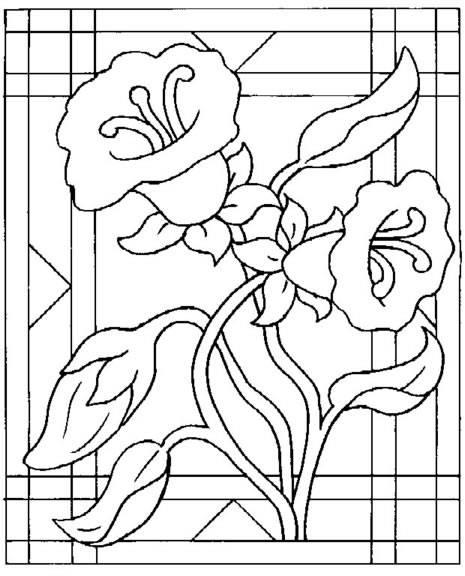 Dibujo de flores para imprimir y pintar :: Flores para dibujar y ...