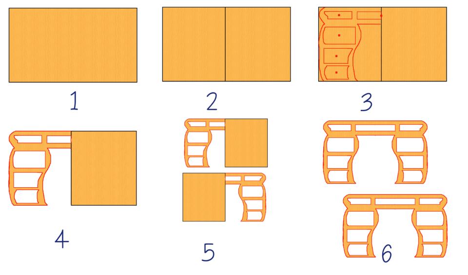 C mo hacer un mueble de cajas de cart n con cajones for Muebles de carton moldes