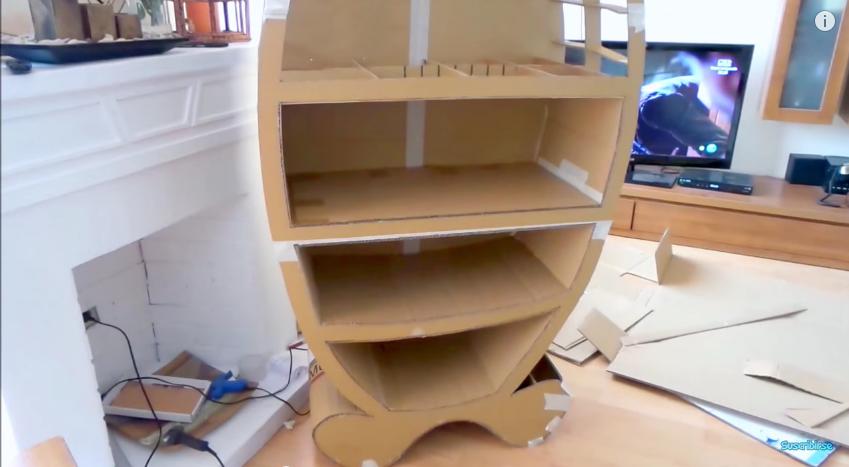Muebles con tubo de carton 20170811213951 - Como forrar muebles con tela paso a paso ...