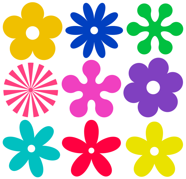 Plantillas de flores con fieltro :: Cómo hacer flores de fieltro ...