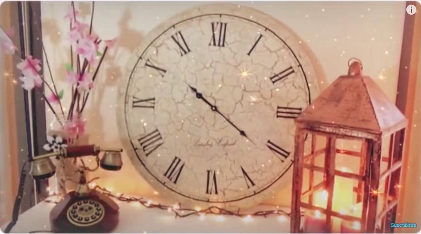 Reciclaje y craquelado de cart n tutorial para hacer un for Reloj de pared vintage 60cm